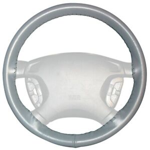 Wheelskins Gray Genuine Leather Steering Wheel Cover for Dodge (Size AXX)