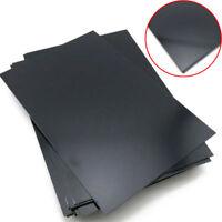 Schwarze ABS Platte Zuschnitt Stärke 0,5mm Kunststoff Plastik Flach 200 x 200mm