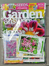 GARDEN ANSWERS MAGAZINE OCTOBER 2020 WITH 4 PACKS OF SEEDS ~ NEW ~