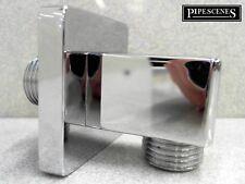 Chrome Muro Quadrato Cubo Doccia Tubo a gomito in ottone cromato OUTLET CP in ottone