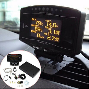 Digital Racing Gauge Kit Tachometer Turbo Boost Temp Air Fuel Ratio EGT 10 in 1
