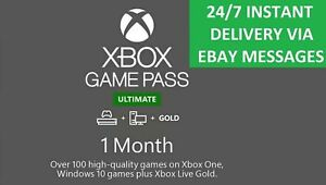 Xbox Live 1 Month Gold & Game Pass Ultimate (2 x 14 Day) 247 FAST EMAIL DELIVERY