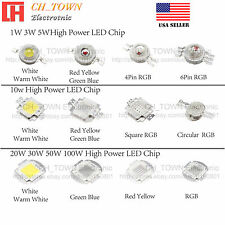 1W 3W 5W 10W 50W 100W High power SMD Chip LED COB White Blue Red Light Beads