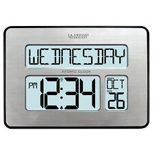 C86279 La Crosse Technology Atomic Digital Wall Clock with Backlight Refurbished