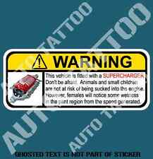 SUPERCHARGER WARNING DECAL STICKER HUMOUR HOT ROD DRIFT NOVELTY DECAL STICKERS