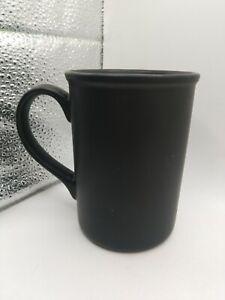 "4.5"" Gibson Everyday Satin Black Ceramic Coffee Mug"