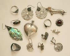 style jewelry wear/craft 925 64g Vintage lot marked sterling silver Mexico/Taxco