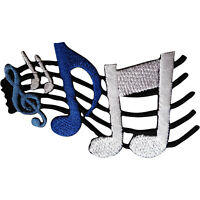 Music Note Patch Iron Sew On Embroidered Badge Musical Sheet Embroidery Applique