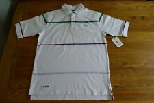New Rocawear white short sleeve polo shirt S