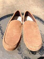 New Ugg Alder Mens Brown Suede Loafer Moccasin Slipper Size US 7 M EU 39.5