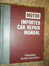 1972-1977 MOTOR'S IMPORTED CAR REPAIR MANUAL AUDI TRIUMPH JAGUAR TOYOTA DATSUN