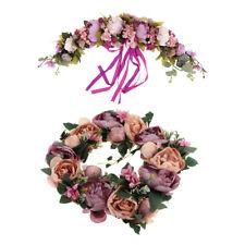 2pcs Artificial Silk Peony Door lintel Flower Wreath Garland Wedding Decor