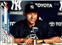 Derek Jeter 2020 TOPPS UPDATE SP PHOTO IMAGE VARIATION #U-257 NEW YORK YANKEES