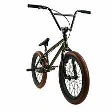 "Elite 20"" BMX DESTRO Bicycle Freestyle Bike 3 Piece Crank Army Green 2019"