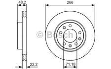 1x BOSCH Disco de freno delantero Ventilado 266mm 0 986 479 C34