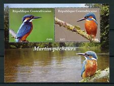 Central African Rep 2017 CTO Kingfishers 2v M/S II Kingfisher Birds Stamps