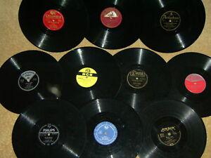 10 Schellackplatten NUR SWING JAZZ BLUES BOOGIE aus SAMMLUNG GB USA GER 78rpm++!