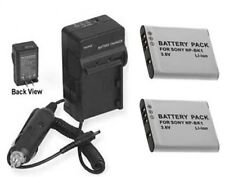 2 Batteries+Charger for Sony DSC-W370S Bloggie MHS-CM5 MHS-CM5V MHS-PM1 MHS-PM1D