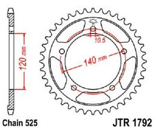 JT Sprockets Steel Rear Sprocket 48T 525 Pitch JTR1792.48