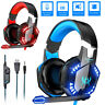 3.5mm Gaming Headset W/ Mic For XBOX One PS4 PS5 PC Headphones Microphone Bass
