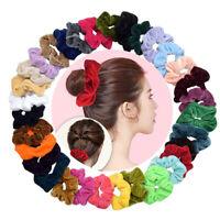 Wholesale Lots Velvet Hair Scrunchies Elastic Hair Band HairTies Bun Ponytail UK