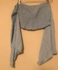 Blue Blush Off The Shoulder Long Sleeve Crop Top - Medium Blue ~ Sz M ~ NWT
