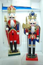 "PAIR OF 15"" WOOD HOLIDAY NUTCRACKERS"