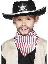 Childrens Boys Cowboy Sheriff Hat Fancy Dress Black by Smiffys