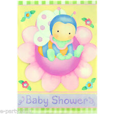 BABY SHOWER Snuggle Bugs INVITATIONS (8) ~ Party Supplies Stationery Invites