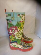 Joules Long wellingtons boots size 3 Ladies Girls Floral new