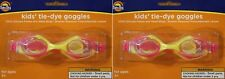 SUN & SKY KIDS' TIE-DYE SILICONE SWIMMING GOGGLES FOR AGES 3+