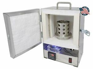 TableTop Hi-Temp 2200°F Burnout Oven PROGRAMMABLE Jewelry Resin Wax Dental Kiln