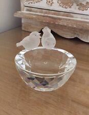 Swarovski Silver Crystal Bird Bath Original Box