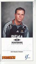 FOOTBALL carte joueur ARNI GAUTUR ARASON équipe ROSENBORG BALLKLUB signée