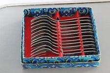Lot de 12 couverts - Fourchettes à poisson - Inox