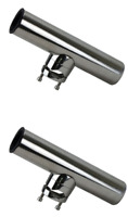 2 x Clamp On Rod Holder Boat Rail Mount Rod Holders Quality Cast Stainless 316Gr