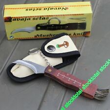 NAVAJA KNIFE SETAS CON LLAVERO HOJA ACERO 6,5 cm.FUNDA 10505 M3 BEST FM