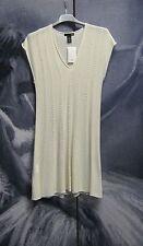 Fine Knit Ivory Cream Jumper Top Tunic Size S 6 8