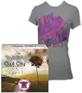 OWL CITY : ALL THINGS BRIGHT AND BEAUTIFUL - ALBUM CD + T-SHIRT