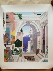 CLASSICAL CITY GATE Serigraph on Paper by Thomas McKnight, Signed/#ed/COA, 1993