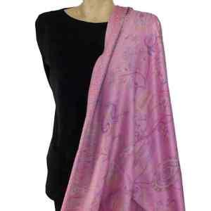 Pink Paisley Pashmina Wrap Shawl