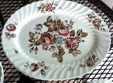 "JOHNSON BROTHERS 12""  DEVON SPRAYS SERVING PLATTER roses"