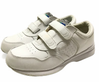 Propet Leisure Life Walker Mens 9.5 Leather White Orthotic Comfort Shoes Straps