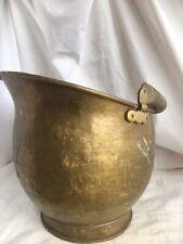 Heavy Brass Coal Bucket Coal Scuttle