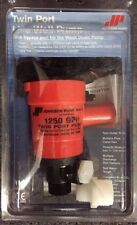 SPX Johnson Twin Port Live Well Pump 32-48103R 1250GPH Wash Down bypass port 12V