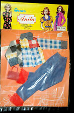 ANITA GERMANDOLL VINTAGE 70s MODE PUPPENKLEIDER FASHION OUTFIT 29cm SEALED OVP