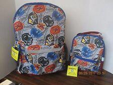 """Harry Potter Backpack 17"""" Large Book Bag & Lunch Bag 2 Set Hogwarts Slytherin 2"""