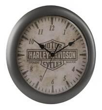 Harley-Davidson Core Trademark Bar & Shield Logo Clock, 11 inch HDX-99105