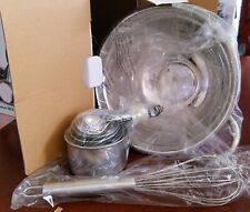 Stainless steel bowl and measure sets NIB