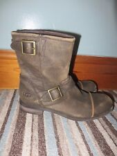 Mens UGG Australia Lancing Casual Boots Brown distressed leather size 7 worn 2